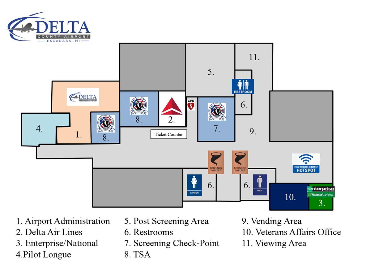 Delta County Airport Floor Plan